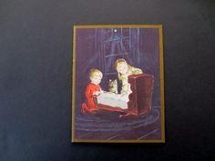 Unused Irene Dash Xmas Greeting Card by Tasha Tudor Children & Kitten by Christ