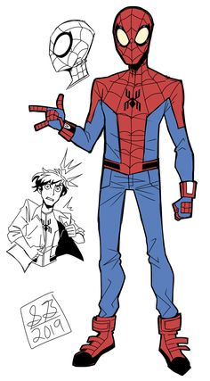 Spencer Blair – Character Designer / Comic Artist Spiderman Sketches, Spiderman Drawing, Spiderman Spider, Amazing Spiderman, Marvel Art, Marvel Heroes, Superhero Design, Character Design Animation, Character Design Inspiration