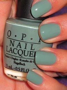Thanks a Windmillion! from OPI's Holland collection. This is a nice dusty seafoam green creme