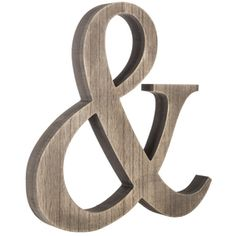 Natural Ampersand MDF Wall Decor