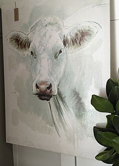 Cow+Canvas+Wall+Art Cow Pics, Cow Pictures, Farm Paintings, Abstract Paintings, Bull Painting, Painting & Drawing, Cow Canvas, Canvas Wall Art, Cow Art