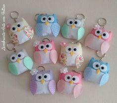 Owl Fabric, Fabric Crafts, Sewing Crafts, Hobbies And Crafts, Diy And Crafts, Felt Keyring, Bird Template, Felt Bookmark, Felt Owls