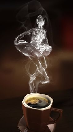 Coffee time for coffee art ~. Coffee Cafe, Coffee Drinks, Coffee Shop, I Love Coffee, My Coffee, Coffee Illustration, Smoke Art, Good Morning Coffee, Coffee Pictures