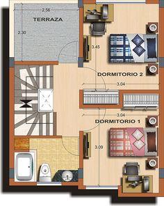 Casa tipo A - Planta 2 | Flickr - Photo Sharing!
