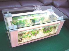 Another Unique Idea For Living Room Aquarium Coffee Table Design - Home Interior Design