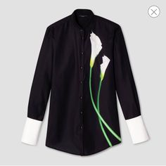 Victoria Beckham For Target Calla Lily Button Down Shirt. Free shipping and guaranteed authenticity on Victoria Beckham For Target Calla Lily Button Down ShirtThe striking calla lily print make it an essential...