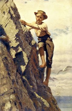 Great Risk For Small Gains -- John George Brown (1831 – 1913, English-born American)