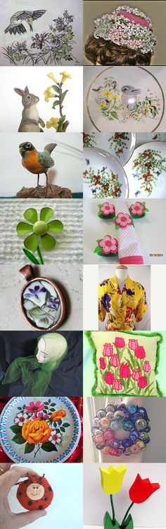A Spring Fling  TeamVintageUSA by Patti Turon on Etsy--Pinned with TreasuryPin.com