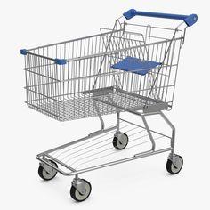 Shopping Trolley 3D 3Ds - 3D Model