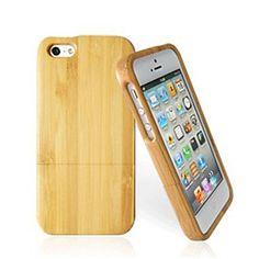 handgemaakte natuurlijke hout houten harde geval dekking voor iphone 5 / 5s – EUR € 25.64