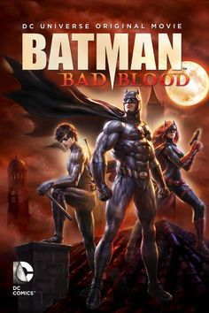 Movie Batman: Bad Blood Bruce Wayne is missing. Alfred covers for him while Nightwing and Robin patrol Gotham City in his stead. And a new player, Batwoman, investigates Batman's disappearance. Batman Poster, Batman Vs Superman, Batman Robin, Batman Cartoon, Batwoman, Nightwing, Hd Movies, Movies To Watch, Movies Online