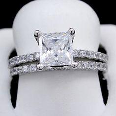 Princess Cut Rings, Princess Cut Engagement Rings, Engagement Wedding Ring Sets, Engagement Ring Settings, Vintage Engagement Rings, Diamond Engagement Rings, Diamond Rings, Solitaire Rings, Solitaire Diamond