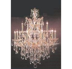 Shop for Swarovski Crystal Trimmed Maria Theresa Chandelier Lighting. Get free delivery On EVERYTHING* Overstock - Your Online Ceiling Lighting Store! Get in rewards with Club O! Candle Style Chandelier, Crystal Candles, Crystal Lighting, Geometric Chandelier, Crystal Chandelier, Candle Styling, Led Chandelier, Beautiful Chandelier, Ceiling Lights