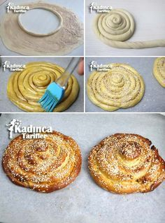 Pastry Shop Usulu Tahinli Donut Recipe, How To, Dessert recipes Donut Recipes, Muffin Recipes, Cake Recipes, Dessert Recipes, Cooking Recipes, Desserts, Pretzel Roll Recipe, Turkish Sweets, Small Cake