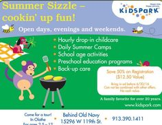#ClippedOnIssuu from iFamilyKC June 2016 Looking for Flexible Childcare? Use THIS ad for 50% OFF your registration at Kids Park!!  // For more family resources visit www.ifamilykc.com ! :)