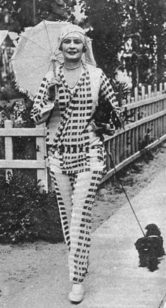 The Lido uniform: Beach Pajamas, 1925 - 1928