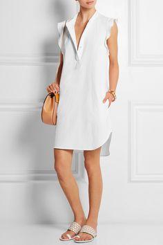 STELLA MCCARTNEY Ruffled cotton-piqué dress