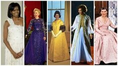 First Lady Portraits, Betty Ford, American First Ladies, How To Dye Shoes, Gold Gown, Silk Chiffon, Cleveland, Dress To Impress, Women Wear