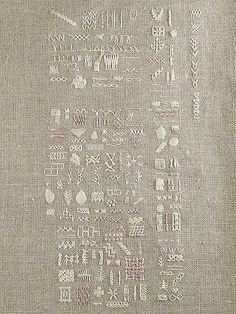 sixelarium embroidery sampler   Flickr - Photo Sharing!
