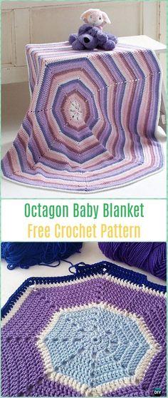 Crochet Octagon Baby Blanket Free Pattern-Crochet Circle Blanket Free Patterns