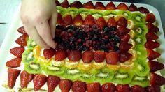 Torta alla Frutta con pan di spagna e pasta frolla - Come Decorare la To...