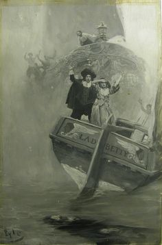 """Howard Pyle (1853-1911) Howard Pyle (1853-1911) """"Let Me Go to Him!"""" She Shrieked, in Her The Death of Cazaio, 1907"""