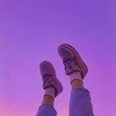 Photo by lofi aesthetics. ✨ in Cute with Image may contain: shoes and sky Violet Aesthetic, Dark Purple Aesthetic, Lavender Aesthetic, Aesthetic Shoes, Sky Aesthetic, Wallpapers Purple, Purple Wallpaper Iphone, Purple Wall Decor, Purple Walls