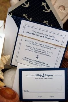 Nautical invitation inspiration
