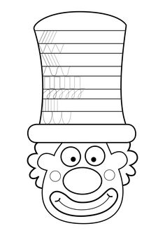 Worksheets circus clowns cut paste paint fine motor skills ro V O R S C H U L E Clown Crafts, Carnival Crafts, Spring Crafts For Kids, Art For Kids, Jewish Crafts, Clowns, Drawing Lessons For Kids, Pre Writing, Preschool Worksheets