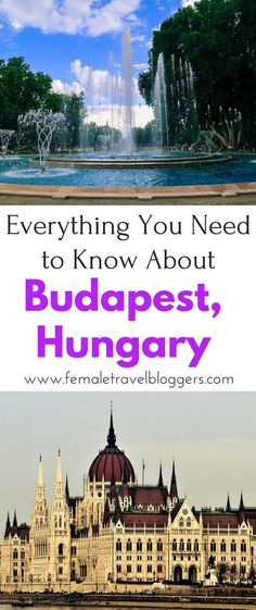 If you're planning a trip to Budapest, Hungary, you'll want to check out this Budapest Travel Guide. We share tips on where to eat in Budapest, things to see in Budapest, things do in Budapest, Hungarian phrases to know in Budapest and much more. Make sur Travel Tips For Europe, Places To Travel, Travel Destinations, Budapest Travel Guide, Hungary Travel, Budapest Hungary, Visit Budapest, Roadtrip, European Travel