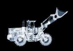 bulldozer, x-ray photography - nick veasey