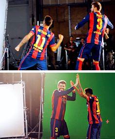 Neymar & Gerard Pique - making of the Beko commercial