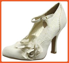Ruby Shoo Women's Emily Cream and Gold Mary Jane Pumps UK 8 EU 41 - Pumps for women (*Amazon Partner-Link)