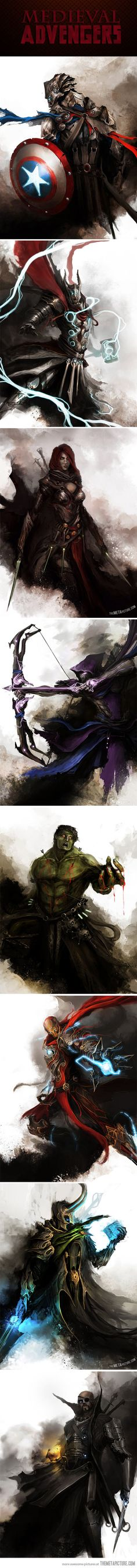"""Amazing Medieval Avengers… ✮✮Feel free to share on Pinterest"""" ♥ღ www.unocollectibles.com"""