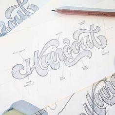 Fantastic process shot by @wellscollins | #typegang - typegang.com | typegang.com #typegang #typography