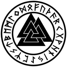 Valknut Rune Circle