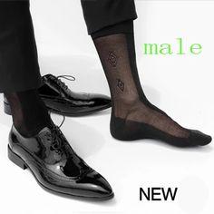 Silk Socks, Sheer Socks, Pies Sexy, Nylons, Foot Socks, Mens Tights, Men Formal, Black Socks, Dress Socks