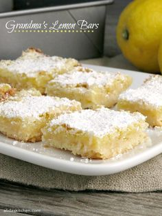 Grandma's Lemon Bars | alidaskitchen.com #SundaySupper #GalloFamily