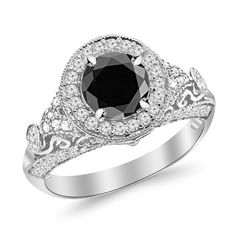 2.3 Carat Round Diamond Engagement Ring 14K Gold Vintage Halo Style 14K Gold with a 1.5 Carat Round Cut AAA Quality... $1,410.00