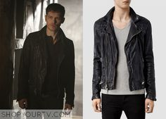 Klaus Mikaelson (Joseph Morgan) wears this leather biker jacket in this week's episode of The Originals. It is the AllSaints Conroy Leather Biker Jacket. Buy it HERE for $650