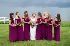 Off the Shoulder Floor-Length Bridesmaid Dresses | Sunny Meadows Flower Farm https://www.theknot.com/marketplace/sunny-meadows-flower-farm-columbus-oh-337899 | Brett Loves Elle Photography https://www.theknot.com/marketplace/brett-loves-elle-photography-groveport-oh-556526