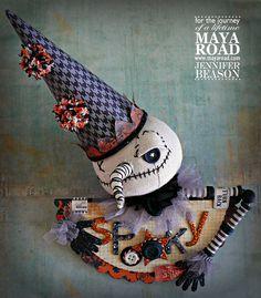 Maya Road and Xyron Swap, Day 1 Halloween Projects, Fall Halloween, Hello Autumn, Hello Everyone, Maya, Halloween Decorations, Projects To Try, Dolls, Creative