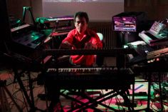 Alba Ecstasy & Nord: The Electronic Museum Concert. April 2012. Nord surrounded by his synths.