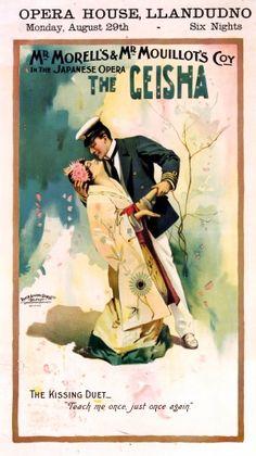 The Geisha Opera House Llandudno, 1898 - original antique poster listed on AntikBar.co.uk #ActorsDay