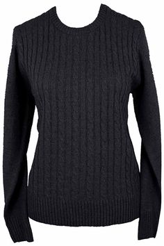 Simple Long Sleeve Cable Knit Sweater