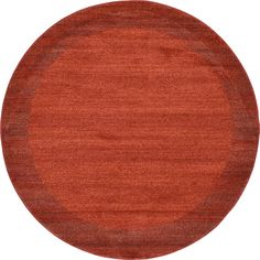 Unique Del Mar Beige/Off-white Border Round Rug (6' x 6') (Orange), Size 6' x 6'