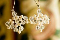 Earrings | Hermione Harbutt | Blue Daisy Photography | #hermione #harbutt #headdress #bridal #wedding #inspiration | http://www.hermioneharbutt.com/wedding/earrings/