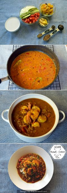 Discover the flavors of east Indian Goan cuisine with this delicious prawn curry… Goan Recipes, Curry Recipes, Fish Recipes, Seafood Recipes, Indian Food Recipes, Cooking Recipes, Healthy Recipes, Seafood Dishes, Goan Prawn Curry