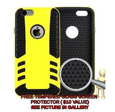 2015 Unique Cell Phone Case For Iphone 6 Mobile Phone  TPU Armor Case  Yellow #Unbranded