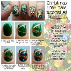 Nailed It NZ: Christmas Tree nail art tutorial